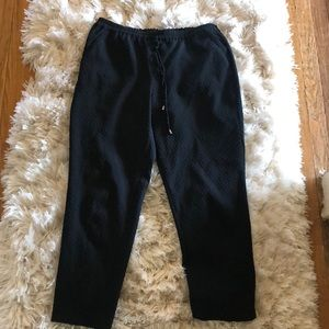 The Limited black textured pants